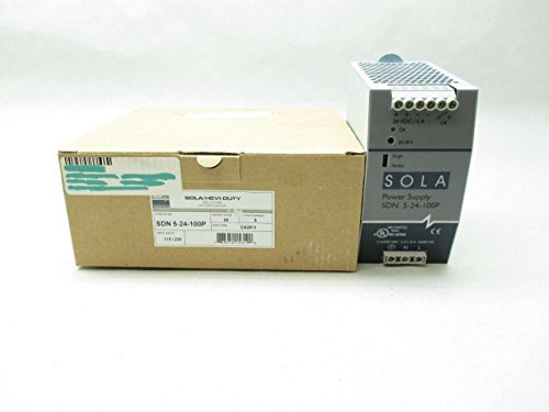 SOLA-HD SDN5-24-100P Power Supply; 24VDC@5A; 115/230VAC In; Enclosed; DIN Rail; Industrial; SDN Series