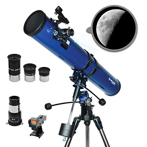 Meade Instruments – Polaris 114mm Aperture Portable Backyard Reflecting Stargazing Astronomy Telescope for Beginners –Stable German Equatorial GEM Manual Mount – View the Moon Planets amp Stars