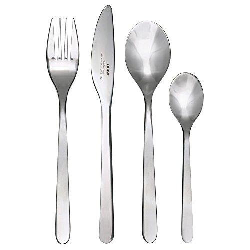 Ikea FÖRNUFT Besteck 24-TLG Edelstahl, Silver, 22 x 14 x 4 cm