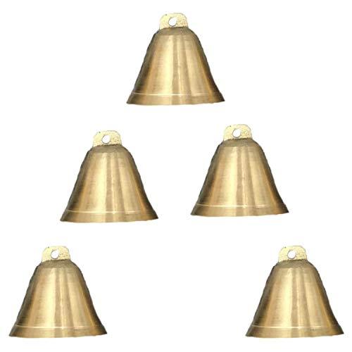 cherrypop 5Pcs Cow Horse Sheep Grazing Brass Bells Farm Animal Horn Bell Christmas Doorbell Pet Collar Charms Decoration