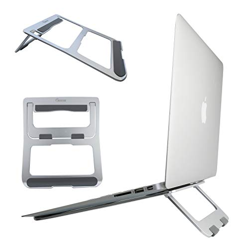 """MOBFONE Laptop Stand, Ergonomic Aluminum Metal Stand,Computer,Tablet,Notebook Holder foldable Stand Cooling Pad Compatible with MacBook Air Pro, iPad, Dell XPS, HP, Lenovo, Huawei More 7-15.6"""" Laptops"""