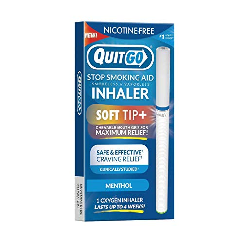 Quit Smoking Aid Oxygen Inhaler + Soft Tip Chewable Filter to Help Curb Cravings, Nicotine Free Non-Addictive Stop Smoking Support & Oral Fixation Relief (1 Pack, Menthol)