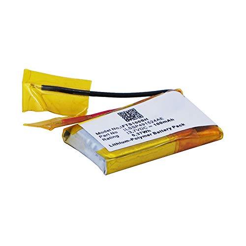 subtel® Smartwatch Ersatz Akku LSSP491524AE kompatibel mit Fitbit Surge Ersatzakku 100mAh Batterie Fitnesstracker