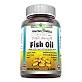 Amazing Omega Triple Strength Fish Oil-1,500 Mg, 120 Softgels (Non GMO,Gluten Free) -Supports Heart, Joint & Brain Health - Superior Bioavailability & Molecular Distillation for Highest Purity