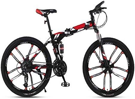 Bicicleta de bicicleta de montaña voladora, bicicleta de bicicleta de montaña plegable, amortiguador de choque para carreras off-road de 26