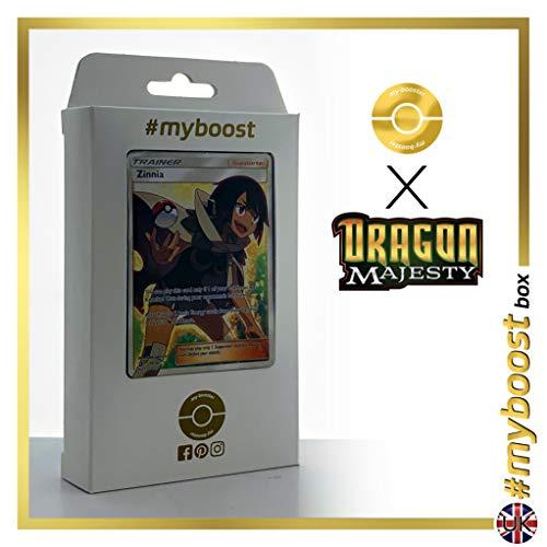 Zinnia (Amaryllis) 70/70 Dresseur Full Art - #myboost X Sun & Moon 7.5 Dragon Majesty - Coffret de 10 Cartes Pokémon Aglaises