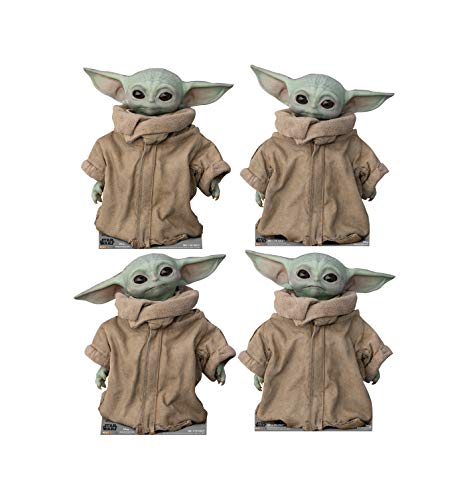 Advanced Graphics The Child (Set of 4) Life Size Cardboard Cutout Standup - Disney's Star Wars: The...