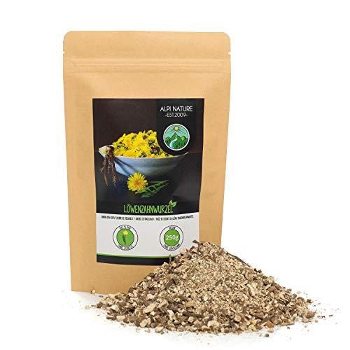 Löwenzahnwurzel getrocknet (250g), Löwenzahnwurzel geschnitten, 100% rein und naturbelassen zur Zubereitung von Tee und Würzen von Gerichten