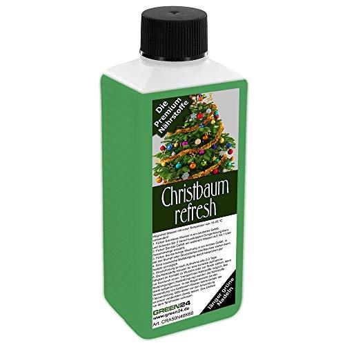 GREEN24 Weihnachtsbaum frisch halten - Christbaum refresh für Nordmanntanne, Fichte, Edeltanne, Blautanne oder Blaufichte - Tannenbaum