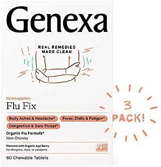 Genexa Popular popular Flu Fix - Max 84% OFF 180 Tablets Multi-Symptom 3pk Medicine