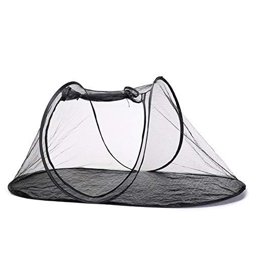 Volwco - Tenda pieghevole per animali domestici, in rete traspirante, per interni ed esterni, portatile, da viaggio, per cani, gatti, uccelli, pappagalli, tartarughe, rettili
