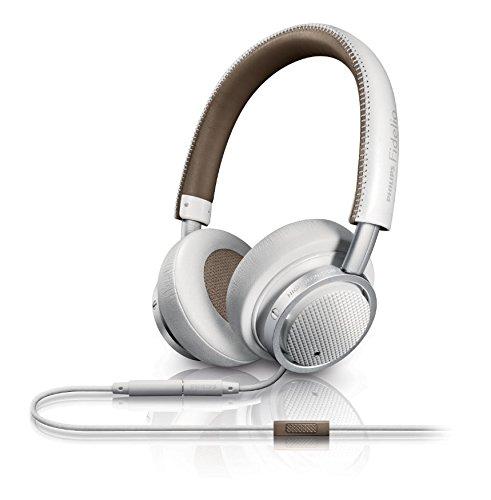 Philips Fidelio M1MKIIWT faltbares On-Ear Kopfhörer inkl. Mikrofon weiß/braun