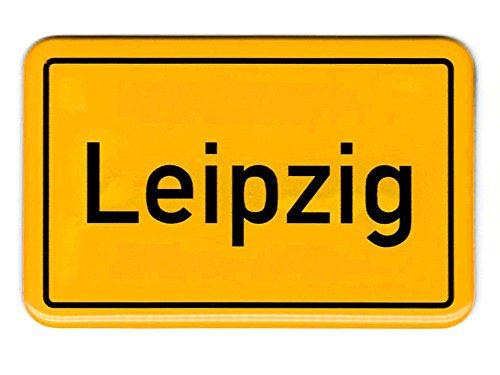 City Souvenir Shop Flexi-Magnet Ortsschild Leipzig