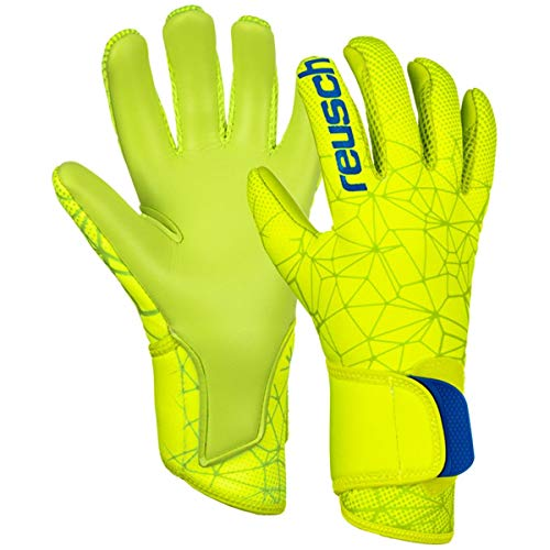 Reusch Pure Contact S1 Torwarthandschuh, Lime/Safety Yellow/Lime, 12