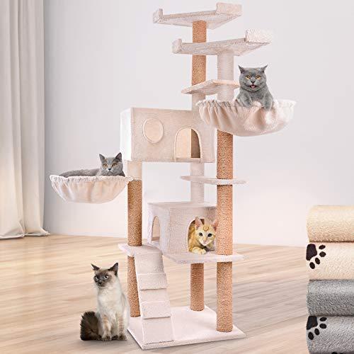 Leopet Kratzbaum zum Spielen, Klettern und Relaxen - 163cm Hoch, Farbwahl - Katzenkratzbäume, Katzenkratzbaum, Katzenbaum, Kletterbaum
