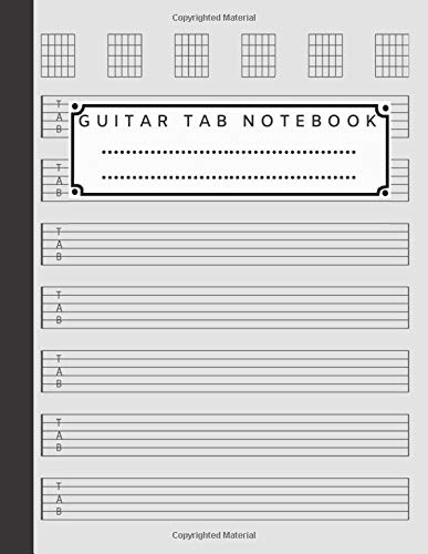 Guitar Tab Notebook: Guitar Tablature Book, Compositian Book, Music Notebook, Blank Guitar Tablature (110 Pages, A4 - Letter, 8.5x11 inch) Livre de ... de guitarra, Gitarren-Tabulatur-Buch.