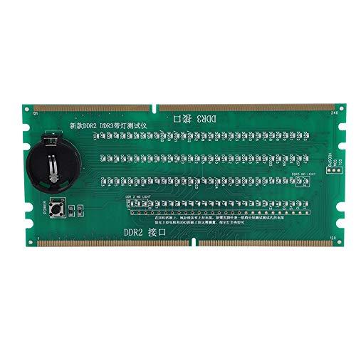 Tarjeta de prueba de placa base de escritorio, 2 en 1 Tarjeta de prueba de placa base de escritorio DDR2 DDR3 Tarjeta de prueba de placa base de escritorio de tratamiento térmico para AMD, con probado