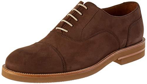 Lottusse T2465, Zapatos de Cordones Derby Hombre, Marrón (Heaven Moka), 41 EU