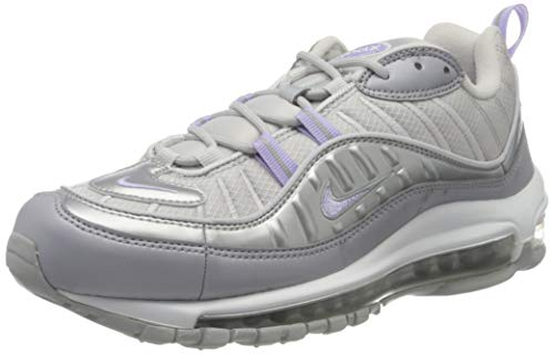 Nike W Air MAX 98 SE, Zapatillas para Correr Mujer, Vapste Grey Purple Agate Mtlc Platinum, 44 EU