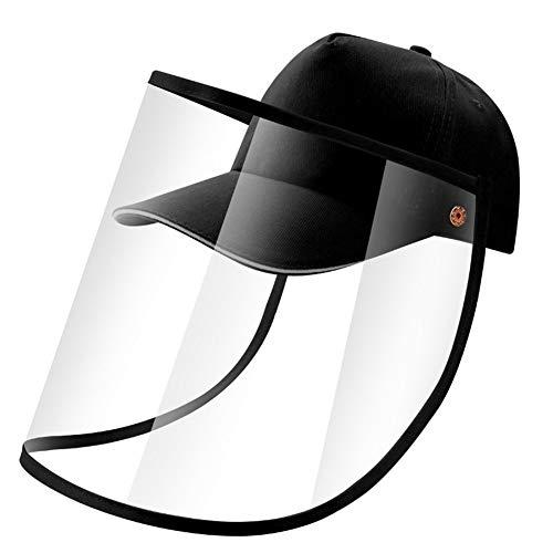 nobrand Maschera Full-Face Cappello Protettivo, Staccabile A Doppio Uso del Berretto da Baseball del Cappello della Mascherina Safty Safety Shield Pesca Sun Protect cap (Color : Baseball cap)