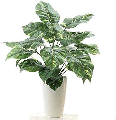 消臭 脱臭 空気清浄 観葉植物 フェイクグリーン 銀配合光触媒コーティング付「人工観葉植物【写真で見るよりも、大きくボリュームあります。by 店長】 ポトス 葉23枚 高さ70~80cm(白丸ポット CHIC7)」NO920101