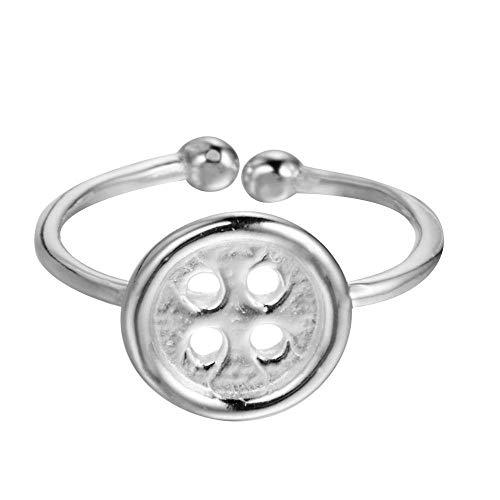 Damen 925 Sterling Silber Ringe,Qualität Taste Charme Ring Für Frauen Einstellbare Ewelry Abendkleider Sekt Niedlichen Stil Geburtstagsgeschenk Party Kollokation