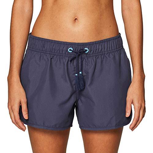 ESPRIT Damen MANRESA Beach Acc Woven Shorts Badeshorts, Blau (Navy 400), (Herstellergröße:L)