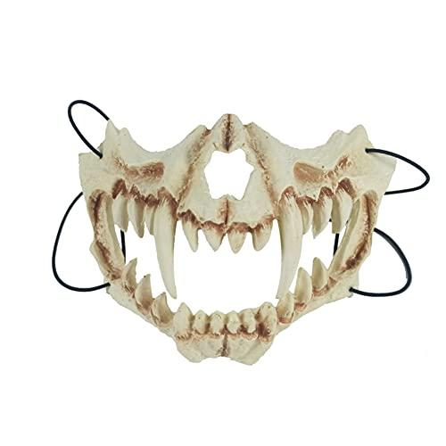Mianbo Halloween Maske Japanische Skelett Maske Dreidimensionale Tierknochen Maske für Halloween Karneval Kostüm Party Supplies