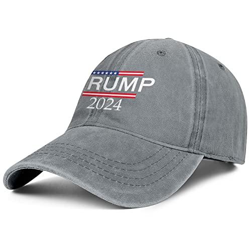Trump 2024 Denim Dad Hats for Men Women-Novelty Golf Sun Cap Snapback Adjustable