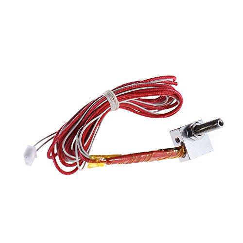Aibecy Cabezal Boquilla Extrusora DIY caliente Fin Kit Boquilla 0,4 mm y 40 mm M6 Extrusora Cuello y 12V 40W calentador y NTC 3950 termistor y aluminio calentador de bloque