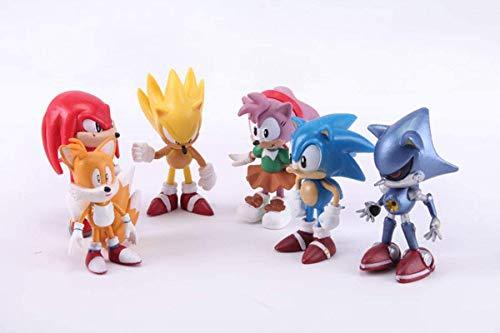 Sonic The Hedgehog - Action Figure - 6 Pcs Celebration Set Toy (Style A)