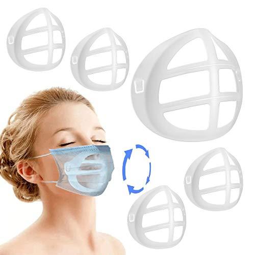 3D Maskenhalter für Bequemes Atmen - 5 Stück Maskenhalterung Schützender Lippenstift - internes Stützrahmennasenloch kann sanft atmen - DIY-Maskenzubehör