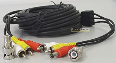 150 Feet Audio Video Power CCTV Security Camera Cable with 2 Bonus BNC to RCA Adapters