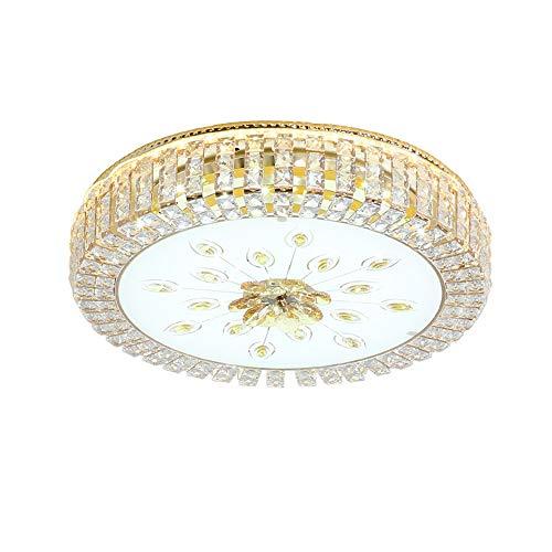 Lámpara de Techo de Cristal Redondo Montaje Empotrado Luz de Techo LED Accesorio de iluminación Regulable para Cocina Comedor Dormitorio Sala de Estar Escalera Baño Pasillo-9030-60