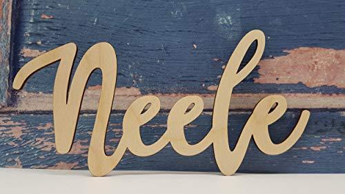 KE-Partyzubehör Personalisierter Schriftzug aus Holz kann wunderschön bemalt Werden Individueller Wunsch-Name Zimmer-tür