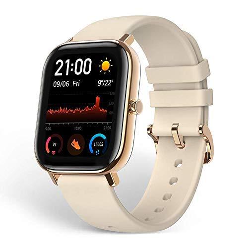 Amazfit GTS Reloj Smartwactch Deportivo | 14 días Batería | GPS+Glonass | Frecuencia Cardíaca | (iOS & Android) Gold (Reacondicionado)