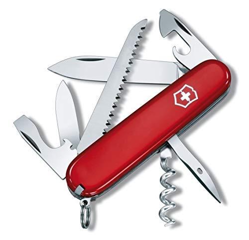 Victorinox Camper Taschenmesser, 13 Funktionen, Klinge, Korkenzieher, Holzsäge, rot