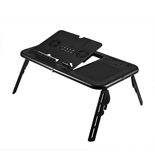 YANGSANJIN Cusco Tafel Voor Laptop Folding en Verstelbare Ondersteuning voor Computer PC Desktop poort tilcon met USB Koeling Fans voor Sofa Bed Zwart