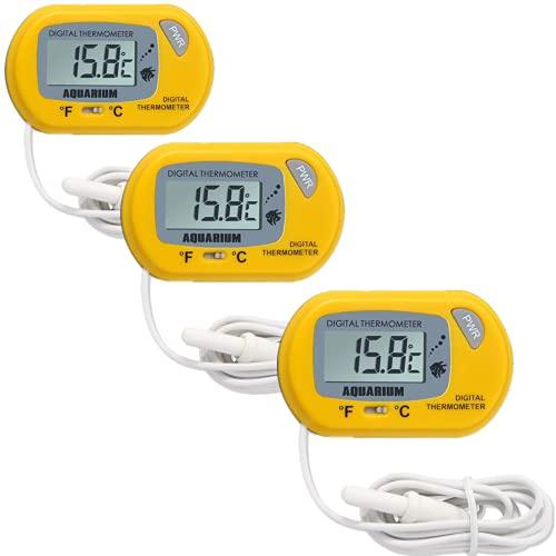 3 PCS Termómetro Digital para Nevera y Congelador, Monitor LCD de Temperatura con Termómetro Digital y Sonda Externa para...