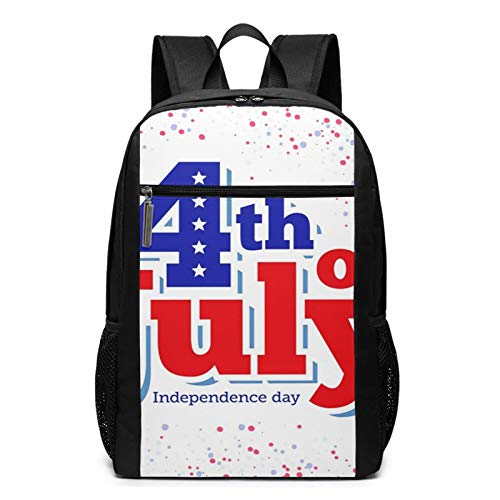 School Backpack Celebration Th July Independence, College Book Bag Business Travel Daypack Casual Rucksack for Men Women Teenagers Girl Boy