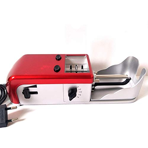 Electric Cigarette Rolling Machine with Motor Speed Adjustment & Tobacco Cutting Wheels