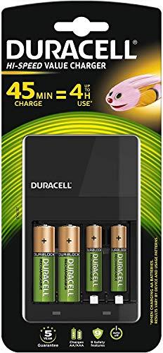 Duracell Akkuladegerät, inkl. 2 AA- und 2 AAA-Akkus, Ladezeit 4h