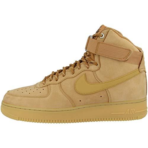 Nike Sneaker da uomo High Air Force 1 High '07, Beige (Flax-wheat-gum (Cj9178-200)), 48.5 EU
