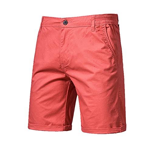 Pantalones Cortos de Verano Hombres Casual Hombres de Negocios Pantalones Cortos
