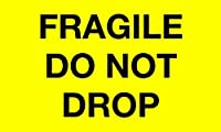 Tape Logic DL1198 Special Handling Label Legend Fragile - Do Not Drop 5 Length x 3 Width Fluorescent Yellow (Roll of 500) [並行輸入品]