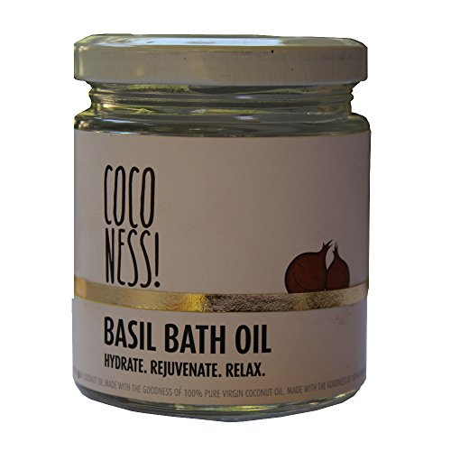 Coconess Basil Bath Oil, 110 g