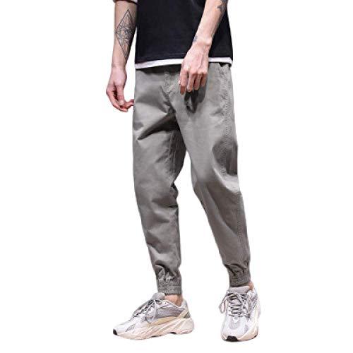 Pantalones de Hombre Pantalones de Overoles Pantalones Sueltos de harén Ocasionales Pantalones de Carga de Trabajo de Color sólido al Aire Libre Ropa de Trabajo Algodón