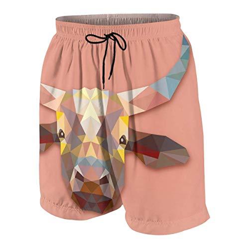LREFON Niños 'Niños' Bañadores Cortos Geometry OX Pattern Impreso en 3D Pantalones Cortos Impermeables de Secado rápido 7-20 años