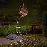 HanOBC Sternendusche Garten Kunst Licht Dekoration LED Gießkanne Dekor Silber