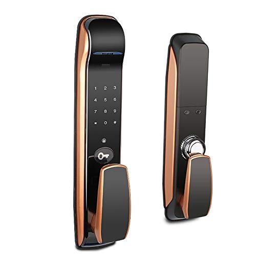 AjAC Digitale vingerafdrukken, Smart Lock, elektronisch, intelligent touchscreen, automatische vergrendeling met kaarten en numeriek toetsenbord, geschikt voor thuis, kantoor, hotels